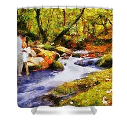 Secluded Stream Shower Curtain