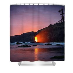 Second Beach Light Shaft Shower Curtain