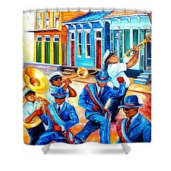 Second Line In Treme Shower Curtain