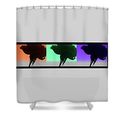 I Second That Emotion - Secondary Colors - Rose Silhouette Photo Collage - Original Floral Design Shower Curtain