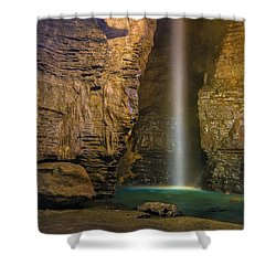 Shower Curtain featuring the photograph Secret Caverns Waterfall 2 by Mark Papke