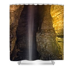 Shower Curtain featuring the photograph Secret Caverns Waterfall by Mark Papke
