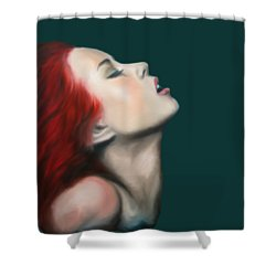 Secret Darling Shower Curtain by Jindra Noewi