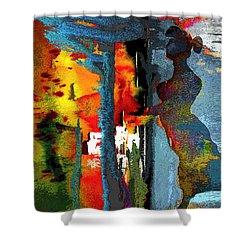 Secret Date Shower Curtain by Miki De Goodaboom