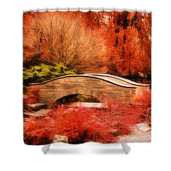 Secret Footbridge Shower Curtain