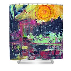 Shower Curtain featuring the painting Secret Garden by Betty Pieper