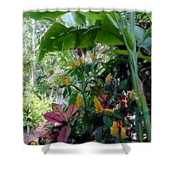 Secret Garden Cat Shower Curtain