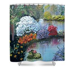 Secret Garden Shower Curtain by Phyllis Kaltenbach