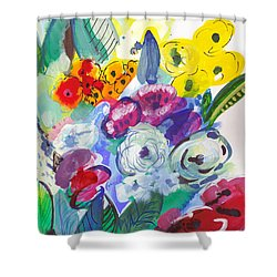 Secret Garden With Wild Flowers Shower Curtain