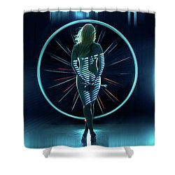 Shower Curtain featuring the photograph Secret Hangar by Dario Infini