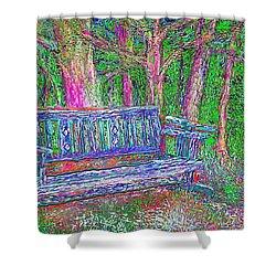 Shower Curtain featuring the painting Secret Spot by Hidden Mountain