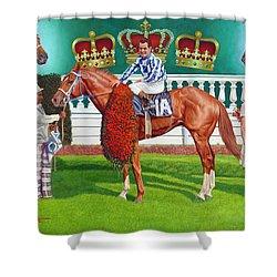 Secretariat Shower Curtain