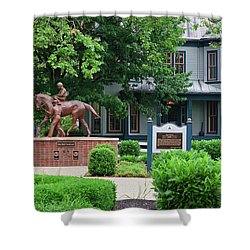Secretariat Statue At The Kentucky Horse Park Shower Curtain