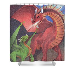 Secrets Of The Flame Shower Curtain