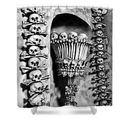 Shower Curtain featuring the photograph Sedlec Ossuary - Czech Republic by Stuart Litoff