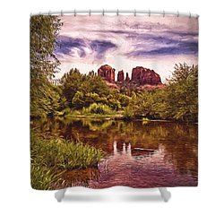 Shower Curtain featuring the photograph Sedona, Arizona  by Chuck Caramella