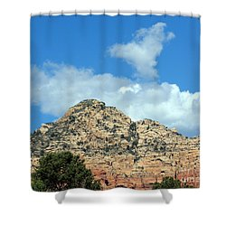 Sedona Heart Cloud Leap Day Shower Curtain by Marlene Rose Besso