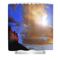 Sedona Mountain Cloud Sun Shower Curtain