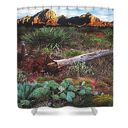 Sedona Mountain Sunrise Shower Curtain