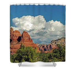 Shower Curtain featuring the photograph Sedona Panoramic II by Bill Gallagher