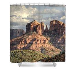 Sedona Red Rock Vista Shower Curtain by Sandra Bronstein
