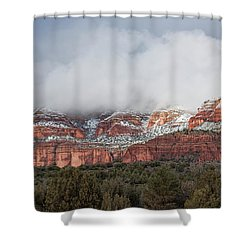 Shower Curtain featuring the photograph Sedona Revealed by Sandra Bronstein