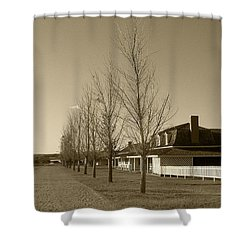 Shower Curtain featuring the photograph Sedona Series - Alley by Ben and Raisa Gertsberg