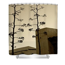 Shower Curtain featuring the photograph Sedona Series - Desert City by Ben and Raisa Gertsberg