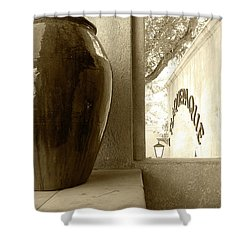 Shower Curtain featuring the photograph Sedona Series - Jug And Window by Ben and Raisa Gertsberg