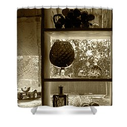 Shower Curtain featuring the photograph Sedona Series - Window Display by Ben and Raisa Gertsberg
