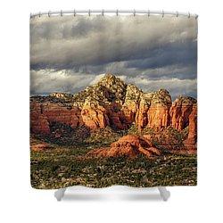 Shower Curtain featuring the photograph Sedona Skyline by James Eddy
