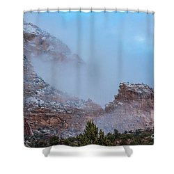 Shower Curtain featuring the photograph Sedona Winter by Sandra Bronstein