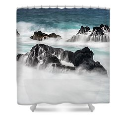 Shower Curtain featuring the photograph Seduced By Waves by Jon Glaser