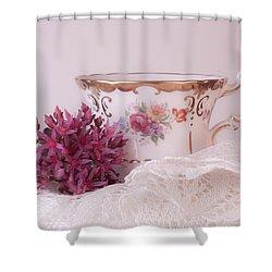 Sedum Flower Still Life Shower Curtain by Sandra Foster