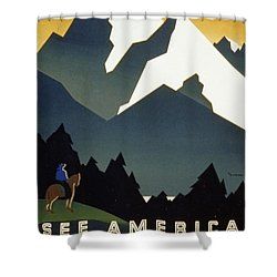 See America Welcome To Montana Shower Curtain by M Weitzman