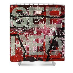 See Red Chicago Bulls Shower Curtain by Melissa Goodrich