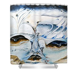 See Serpent Shower Curtain by Jacabo Navarro