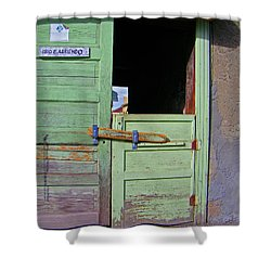 See-through Doors Shower Curtain by Lenore Senior