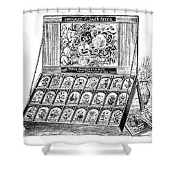 Shower Curtain featuring the drawing Seed Bank by ReInVintaged