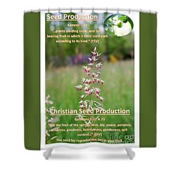 Seed Production Shower Curtain
