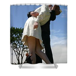 Shower Curtain featuring the photograph Seeeeport Village San Diego by Marie Neder