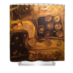 Seeing Into Space Shower Curtain