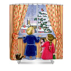 Seeing The Snow Shower Curtain by Lavinia Hamer