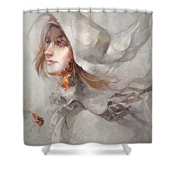 Seek V1 Shower Curtain