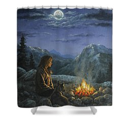 Seeking Solace Shower Curtain