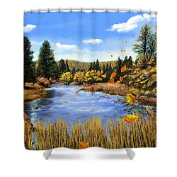 Seeley Montana Fall Shower Curtain
