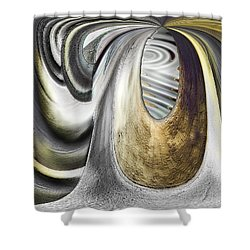 Shower Curtain featuring the digital art Seen In Stone by Wendy J St Christopher