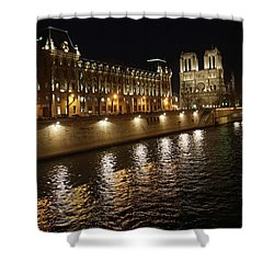 Seine - Notre Dame Shower Curtain by Erik Tanghe