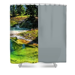 Seismograph Pool In Yellowstone Shower Curtain