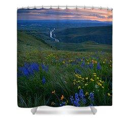 Selah Sunset Shower Curtain by Mike  Dawson